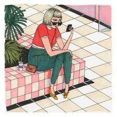 Mit csinál egy nő, amikor senki sem látja? #everydaylife #illustrations