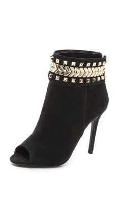 Schutz Besma Embellished Open Toe Booties... THESE ARE AMAZING