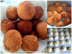 Cette recette de beignets camerounais appelé les Lofombos a été partagé par Erykah, une fane Healthy Chicken Recipes, Dog Food Recipes, Dessert Recipes, Cooking Recipes, I Love Food, Good Food, Yummy Food, Naan, Nutella
