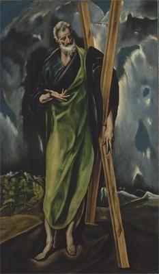 "El Greco (Spanish, ca. Saint Andrew, ca. 1610 s work is featured in ""El Greco Renaissance Espagnole, Renaissance Kunst, Spanish Artists, European Paintings, St Andrews, Wow Art, Old Master, Religious Art, Metropolitan Museum"