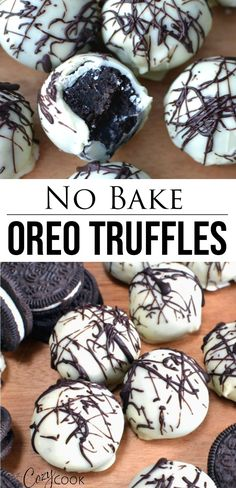 Oreo Truffles This easy no-bake Oreo truffle recipe takes just three ingredients: Cream cheese, chocolate, and Oreos! They are easy to make ahead of time and can even be frozen! Oreo Balls Recipe 3 Ingredients, Oreo Truffles Recipe, Truffle Recipe, Quick Easy Desserts, Köstliche Desserts, Frozen Desserts, Delicious Desserts, Chocolate Desserts, Easter Desserts