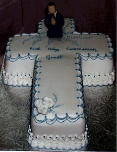 Confirmation Cake 3 Communion Cakes, First Communion, Confirmation Cakes, Cake Creations, Frostings, Christening, Ohio, Celebration, Cupcakes