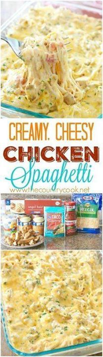 Creamy Chicken Spagh Creamy Chicken Spaghetti recipe from The...  Creamy Chicken Spagh Creamy Chicken Spaghetti recipe from The Country Cook. The BEST Chicken spaghetti I have ever made. There is no other recipe like this one on the internet! Its an original that is a new family favorite! Recipe : http://ift.tt/1hGiZgA And @ItsNutella  http://ift.tt/2v8iUYW