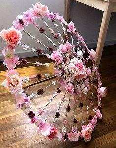 Sneak-a-Peek Parasol - floral wedding umbrella, custom bridal umbrella . - Sneak-a-Peek Parasol – floral wedding umbrella, custom bridal umbrella, photo prop, festival gear - Umbrella Decorations, Wedding Decorations, Festival Decorations, Flower Decorations, Floral Umbrellas, Diy And Crafts, Paper Crafts, Decor Crafts, Fabric Crafts