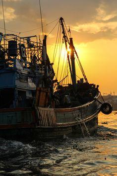 Sunrise...sunset ~  Fishing BoatBangkok, ThailandDecember 2012