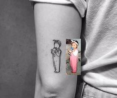 Cute tattoo recreation of a childhood photo