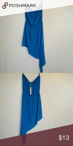 BCBGENERATION strapless dress BCBGENERATION strapless dress. High low detail on the left side. New with tags, never worn. 100% polyester BCBGeneration Dresses Strapless