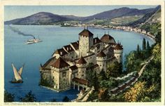 Het kasteel, uit de dertiende eeuw, is één van de best bewaarde middeleeuwse kastelen van Europa. De reden het kasteel op deze rotspunt in het meer van Genève te bouwen, is de strategische positie: steil aflopende rotsen aan één kant en aan de andere kant het meer, dat op deze plek 300 meter de diepte ingaat. In de bronstijd was er geen pad rond het meer, de route liep op deze plek 200 meter hoger over de rotsen.
