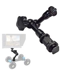 FOTYRIG 7 Magic Arm Articulating Friction Arm with Hot Shoe Mounts 14 Screw for DSLR Camera Rig LCD Monitor DV Monitor LED Lights Flash Lights Microphones DJI OsmoSmart Phone and More -- You can get more details by clicking on the image.Note:It is affiliate link to Amazon.
