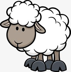 cartoon animals, Poultry And Livestock, Sheep PNG and Vector. Sheep Cartoon, Cute Cartoon, Cartoon Birds, Animal Drawings, Cute Drawings, Dog Drawings, Lama Animal, Sheep Drawing, Lamb Drawing