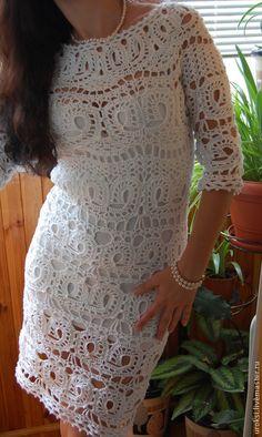 Little white crochet dress