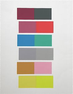 Josef Albers silkscreen, Interaction of Color (1963)