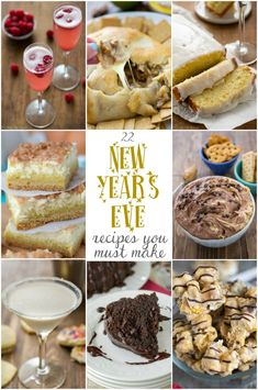 22 New Years Eve must make recipes from Crazy for Crust!