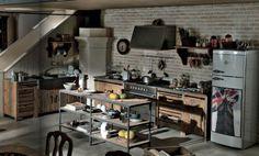 cucine per loft,shabby,country #itesoricoloniali #casa #arredamenti #shabby #loft #industrial #homestaging #dialmabrown