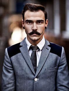 I'm not usually into the whole mustache thing but this jacket is slick