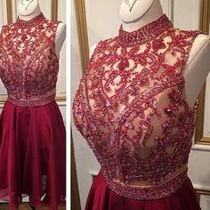 The+Red+halter+Homecoming+Dresses+are+fully+lined,+8+bones+in+the+bodice,+chest+pad+in+the+bust,+lace+up+back+or+zipper+back+are+all+available,+total+126+colors+are+available.+ This+dress+could+be+custom+made,+there+are+no+extra+cost+to+do+custom+size+and+color. Description+ 1,+Material:+Tul...