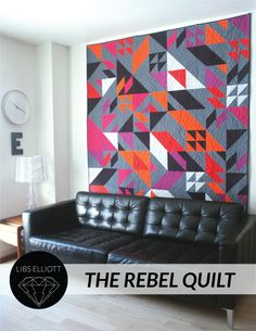 The Rebel Quilt was randomly designed by Libs Elliott using a programming language called Processing. You can buy the quilt pattern here: http://www.gumroad.com/libselliott