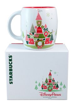 Disney + Starbucks + Christmas + Coffee = What's not to love? The Disney Starbucks Holiday Christmas Mug Limited Edition: Coffee Cups & Mugs
