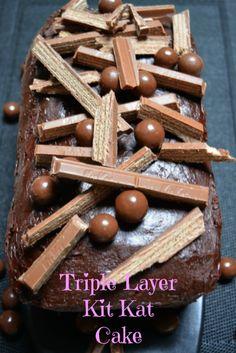 Triple Layer Kit Kat Cake Recipe