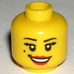 LEGO Yellow Flamenco Dancer Girl Minifigure Minifig Head Red Lips Female 8827 $1.49