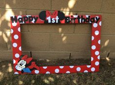 Red Minnie Mouse Photo Booth Prop von prettypartydecor auf Etsy