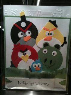 Love love love Angry Birds! Could totally make this!