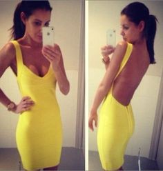 yellow backless