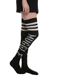 Harry Potter Muggle Black Over-The-Knee Socks | Hot Topic