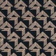 Schumacher - V STEP - Miles Redd fabric in black