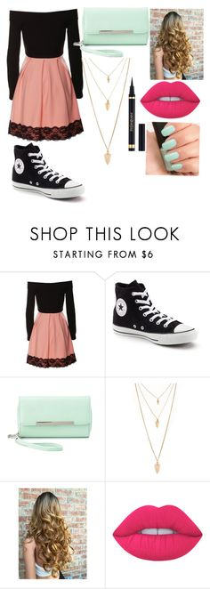 """""""Easter Sunday"""" by starry-night2021 ❤ liked on Polyvore featuring Converse, Charlotte Russe, Forever 21, Lime Crime, Yves Saint Laurent and NARS Cosmetics"""