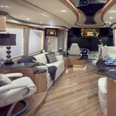 Although The Interior Is Done In Expected Rv Vegas Kitsch I Do Like How Floor Laid At An Angle Now If Were