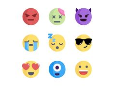 Emoji No.1 set by Aleksandar Savić #Design Popular #Dribbble #shots