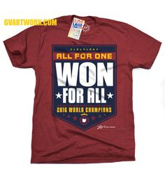 246eaf810 Cleveland All For One WON For All 2016 Championship Banner Shirt