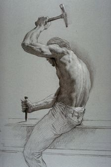 figure drawing by Jon de Martin Human Figure Drawing, Figure Sketching, Gesture Drawing, Body Drawing, Anatomy Art, Anatomy Drawing, Figure Painting, Painting & Drawing, Drawing Sketches