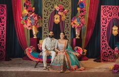"""Wellgroomed Designs Inc on Instagram: """"S A N G E E T✨Here's a look at our stunning client Tanu dressed in a vibrant one of a kind lehenga for her sangeet! The perfect piece that…"""" Tropical Vibes, Decoration, Lehenga, Vibrant, Indian, Traditional, Instagram, Photography, Wedding"""