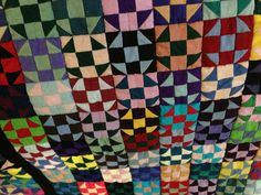 "These blocks are 1.5""! wish I could find a better pic of the whole quilt."