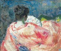 Woman in Interior - Bernhard Folkestad 1917 Norwegian 1879-1933 Oil on canvas