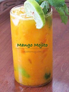 Mango Mojito Recipe so easy to make from scratch with my tutorial. #mango #mangorecipes #cocktails #mocktails #mojito, mangomojito
