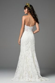 Shop designer bridal gowns like the Liesel Style 58130 dress by Willowby and other bridal accessories at Blush Bridal. Ethereal Wedding Dress, Luxury Wedding Dress, Designer Wedding Dresses, Bridal Dresses, Bridesmaid Dresses, Mermaid Gown, Lace Mermaid, Wedding Bride, Wedding Gowns