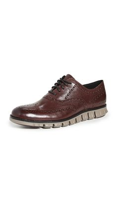 Cole Haan Men's Zerogrand Leather Wingtip Oxfords In Burnished Wine Peacoats, Cole Haan, Travel Humor, Animal Design, Art And Architecture, Emo, Casual Shoes, Steampunk, Oxford Shoes