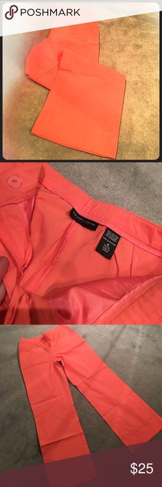 New York & Co. stretch petite size 4 Salmon color stretch pants New York & Company Pants Boot Cut & Flare