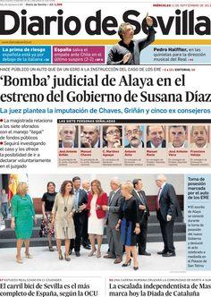 Los Titulares y Portadas de Noticias Destacadas Españolas del 11 de Septiembre de 2013 del Diario de Sevilla ¿Que le pareció esta Portada de este Diario Español?