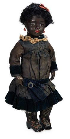 Splendid French Black-Complexioned Bisque Bebe by Leon Casimir Bru 18,000/25,000