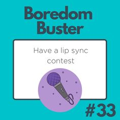 Jam out in a lip sync contest! Lip Sync, Boredom Busters, Lips, Chart