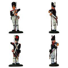 """Granadero de la Guardia Nacional de París - 1792 (Colección """"Soldados de las Guerras Napoleónicas"""" editada por delPrado - 60 mm)"""
