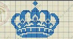 Kroon, patroontje in kruissteek