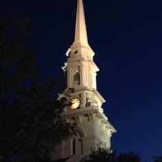 #NorthChurch #PortsmouthNH #MarketSquare #summernight by alisoneanderson
