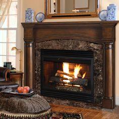 Princeton full arched Fireplace Mantel. Pick size, finish. Optional plinths #PearlMantels #fullarch