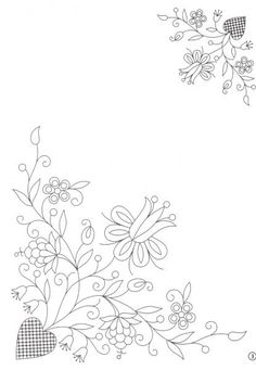 Hand Embroidery Patterns Embroidery Pattern from wzory hafty kaszubskie. Embroidery Flowers Pattern, Hand Embroidery Designs, Ribbon Embroidery, Embroidery Applique, Cross Stitch Embroidery, Machine Embroidery, Indian Embroidery, Flower Patterns, Colchas Quilting