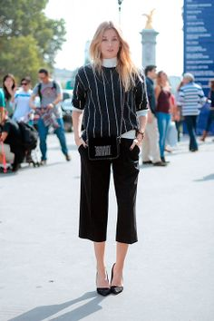 How to Wear Mid-Cropped Culottes  midcroppedculottes  2014fashiontrends How  To Style Culottes 143ed34bd7f